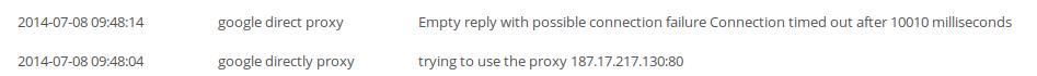non working proxy