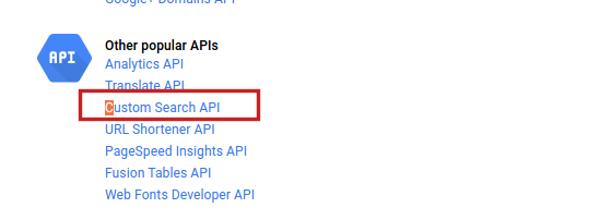 How to create a Google custom search api key?